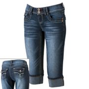 Angels Cuffed Denim Capris - Juniors