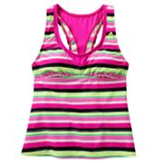 adidas Striped Tankini Top