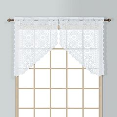 United Curtain Co. Rochelle Lace Swag Curtain Pair - 56' x 38'