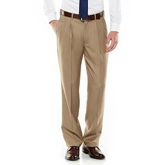 Men's Axist Ultra Series Fancy Straight-Fit Solid No-Iron Performance Pleated Dress Pants