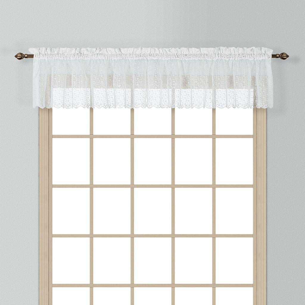 United Curtain Co. Charlotte Lace Window Valance - 56