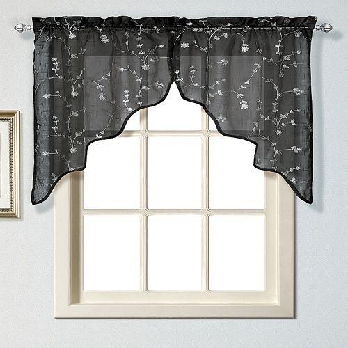 United Curtain Co. Savannah Swag Curtain Pair - 51'' x 38''
