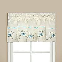 United Curtain Co. Rachael Embroidered Valance - 60