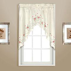 United Curtain Co. Rachael Embroidered Swag Curtain Pair - 60' x 30.5'