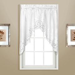United Curtain Co. Rachael Embroidered Swag Curtain Pair - 60' x 30.5'
