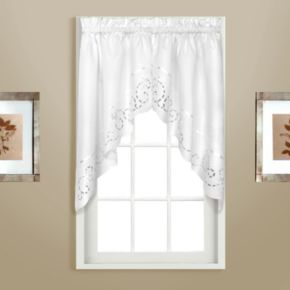 United Curtain Co. Rachael Embroidered Swag Curtain Pair - 60'' x 30.5''
