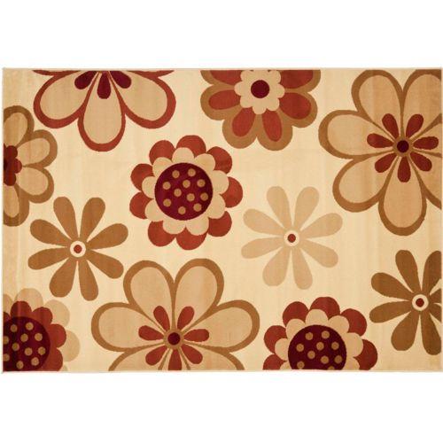 "Safavieh Porcello Retro Floral Rug – 4′ x 5'7"""