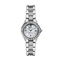 Armitron NOW Silver Tone Crystal & Mother-of-Pearl Watch - Made with Swarovski Crystals - 75/3689MPSV - Women
