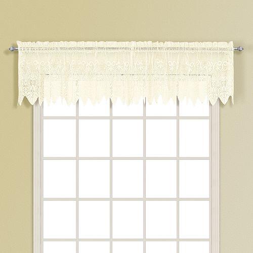 "United Curtain Co. Valerie Window Valance - 52"" x 15"""