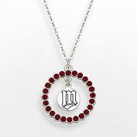 LogoArt Minnesota Twins Silver Tone Crystal Logo Charm Circle Pendant