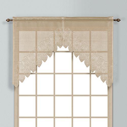 "United Curtain Co. Valerie Swag Curtain Pair - 52"" x 38"""