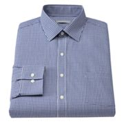 Van Heusen Fitted Checked Spread-Collar Dress Shirt