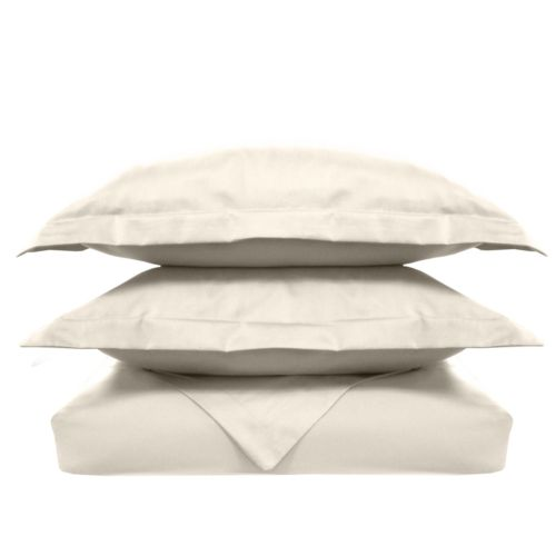 Solid 300-Thread Count Egyptian Cotton Sateen 3-pc. Duvet Cover Set - Full/Queen