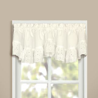 United Curtain Co. Vienna Eyelet Valance - 60'' x 12''