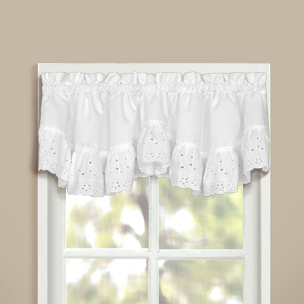 United Curtain Co. Vienna Eyelet Window Valance - 60
