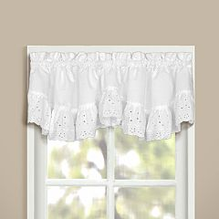 United Curtain Co. Vienna Eyelet Window Valance - 60' x 12'