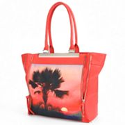 Apt. 9 Tricia Zipper Palm Tree Sunset Tote
