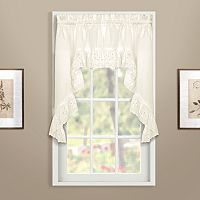 United Curtain Co. Vienna Eyelet Swag Curtain Pair - 27