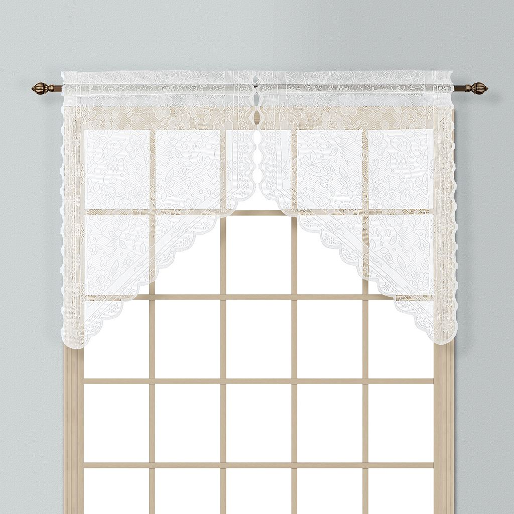 United Curtain Co. Windsor Swag Curtain Pair - 56'' x 38''