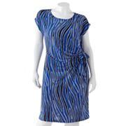 Dana Buchman Line Pleated Shift Dress - Women's Plus