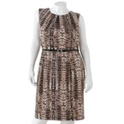 Dana Buchman Snakeskin Ponte Dress - Women's Plus