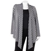 Dana Buchman Geometric Open-Front Cardigan - Women's Plus