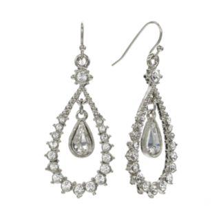 1928 Floating Crystal Teardrop Earrings