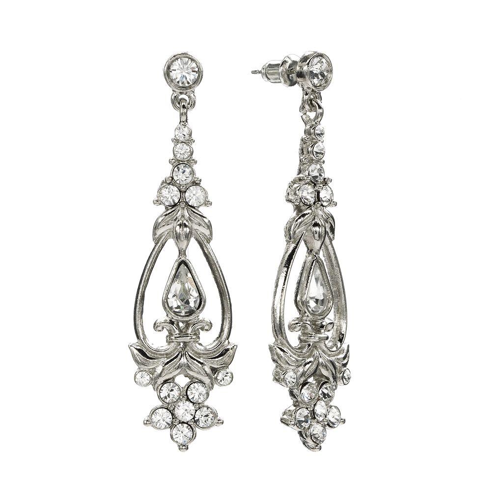 1928 Crystal Drop Earrings