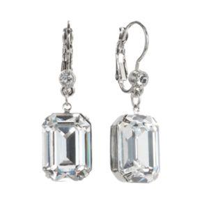1928 Crystal Rectangle Drop Earrings