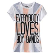 Mighty Fine Everybody Loves Boy Bands Tee - Girls 7-16