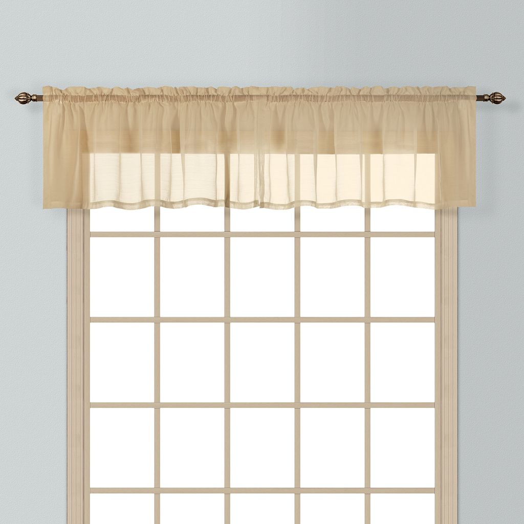 United Curtain Co. Batiste Window Valance - 54'' x 16''