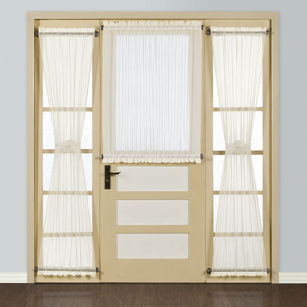 United Curtain Co. Batiste Door Window Panel - 54'' x 40''