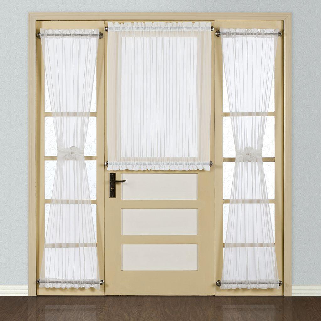 United Curtain Co. Batiste Door Window Panel - 54'' x 45''