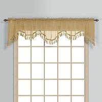 United Curtain Co. Monte Carlo Scalloped Window Valance - 59'' x 18''