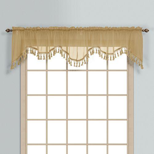 United Curtain Co Monte Carlo Scalloped Window Valance