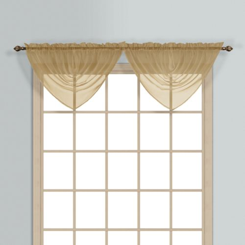 """United Curtain Co. Monte Carlo Waterfall Valance – 60"""" x 34"""""""