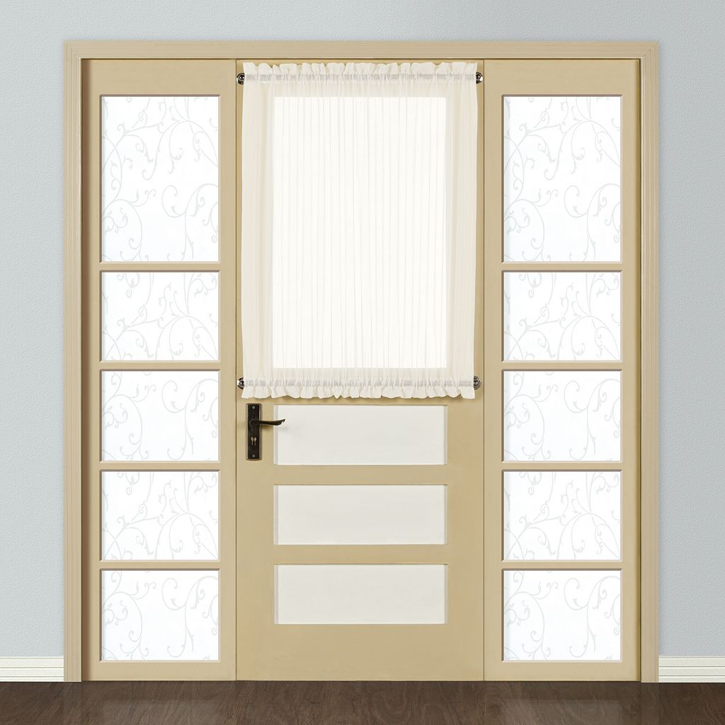 United Curtain Co. Monte Carlo Door Window Panel - 59'' x 40''