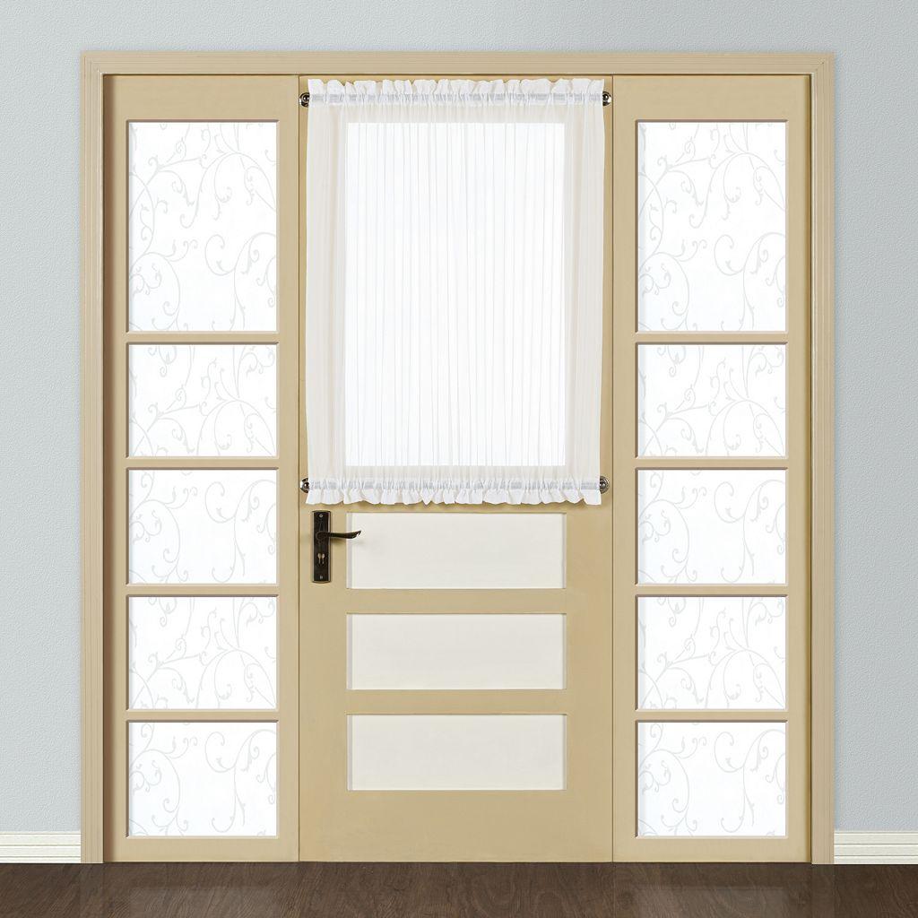 United Curtain Co. Monte Carlo Door Window Panel - 59'' x 40''
