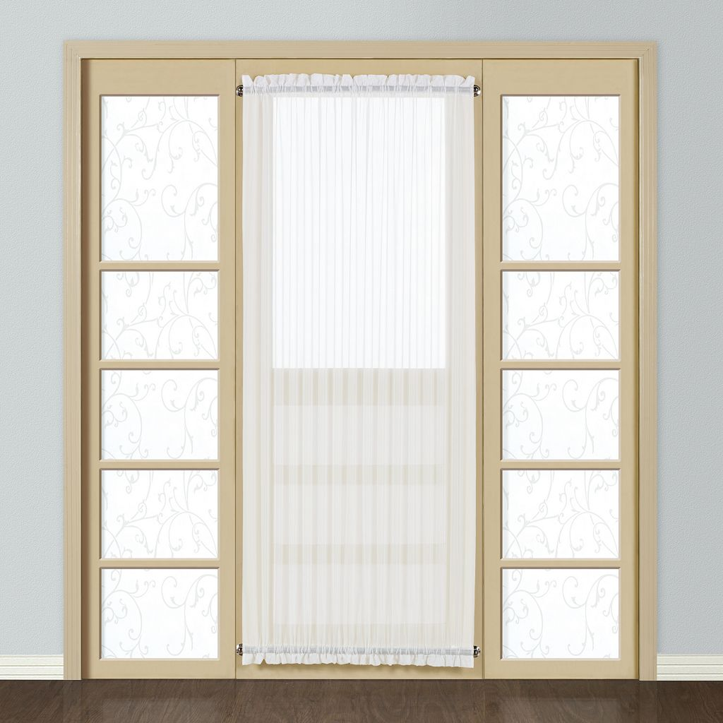 United Curtain Co. Monte Carlo Door Window Panel - 59'' x 72''