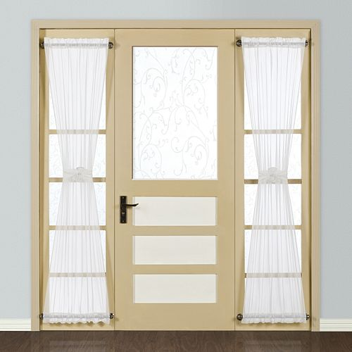 United Curtain Co. Monte Carlo Sidelight Window Panel - 28'' x 72''