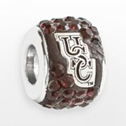 LogoArt South Carolina Gamecocks Sterling Silver Crystal Logo Bead - Made with Swarovski Elements