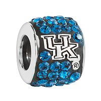 LogoArt Kentucky Wildcats Sterling Silver Crystal Logo Bead - Made with Swarovski Crystals