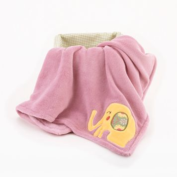 CoCo & Company Alphabet Sweeties Fleece Boa Blanket