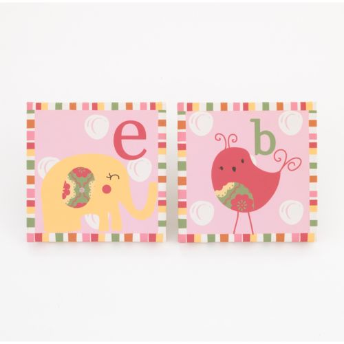 CoCo and Company 2-pk. Alphabet Sweeties  Wall Art