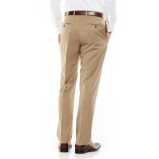 Men's Axist Ultra Series Straight-Fit Solid No-Iron Performance Flat-Front Dress Pants