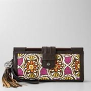 Relic Montclare Abstract Wooden Bar Wristlet