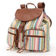 Mudd Waverly Striped Backpack