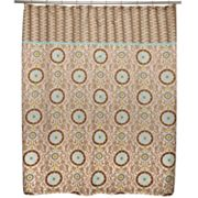 Waverly Celestial Sun Fabric Shower Curtain
