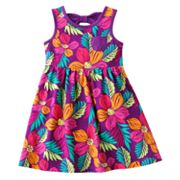 Jumping Beans Floral Bow-Back Dress - Toddler