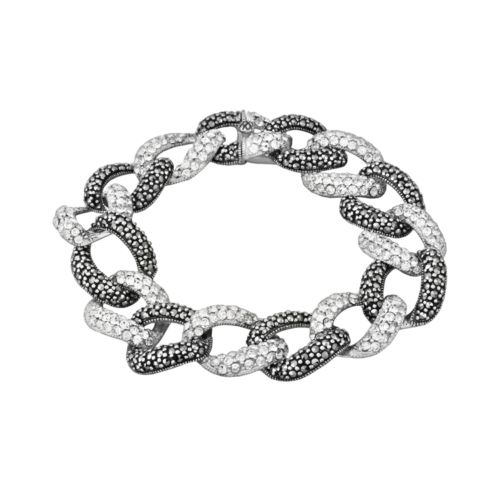 Sterling Silver Marcasite and Sim